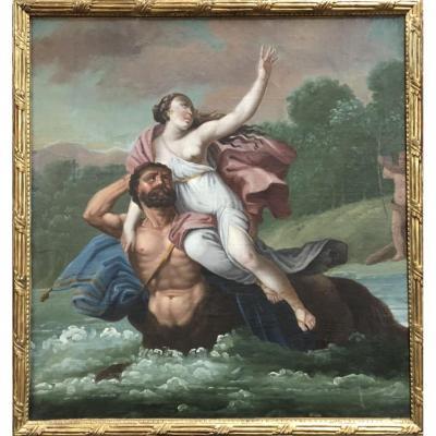 """Ecole française du XVIIème siècle """"l'enlèvement de Déjanire"""""""
