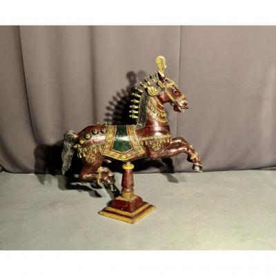 Wooden Horse Polychrome Nineteenth Time