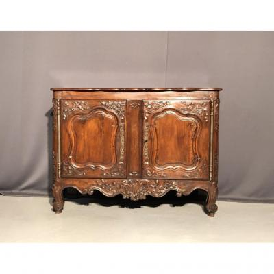 Buffet Louis XV Provençal In Carved Walnut, Eighteenth Time