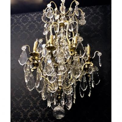 Cage Chandelier In Baccarat Crystal, Nineteenth Time