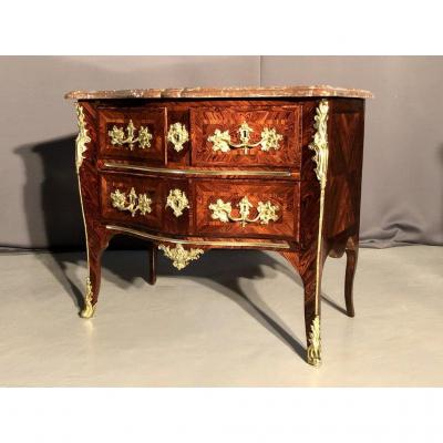 Commode In Veneer Of Violet Wood Stamped Jf Coulon, XVIIIth Century