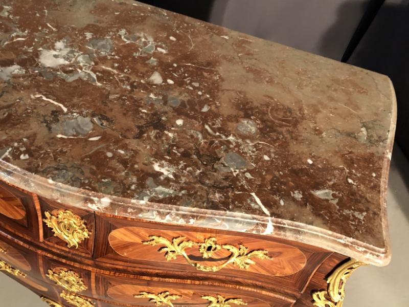 Tomb Commode In Rosewood And Rosewood, Eighteenth Time-photo-2