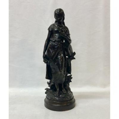 Sculpture En Bronze signée H. Moreau