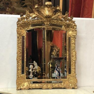 Miroir à Pareclose H: 88cm, époque Régence