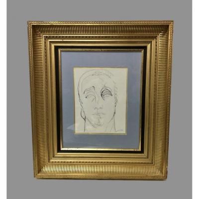 "Dessin ""portrait"" signé H de Waroquier 1936"