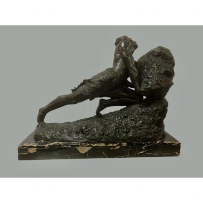 Sculpture En Bronze signé Grégoire