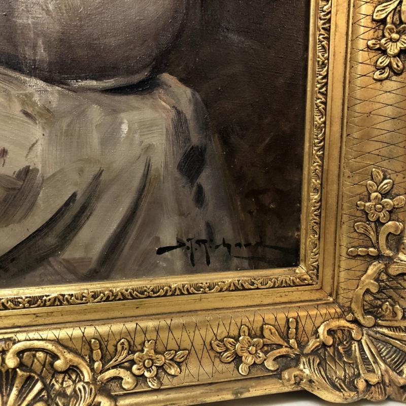 Oil On Canvas Signed Richard-photo-3