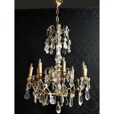 Bronze And Crystal Chandelier, Nineteenth Time