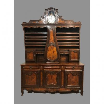 18th Century Dresser-clock Buffet