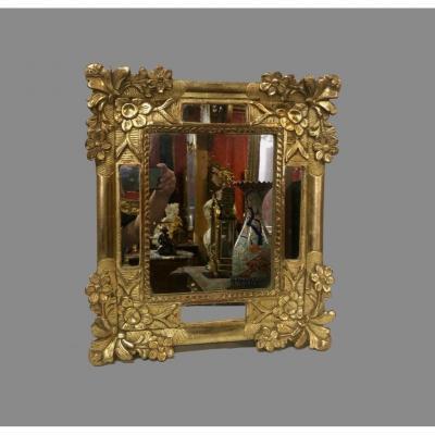 18th Century Golden Wood Mirror