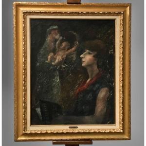 Huile Sur Toile Signée Edouard Goerg 1893-1969