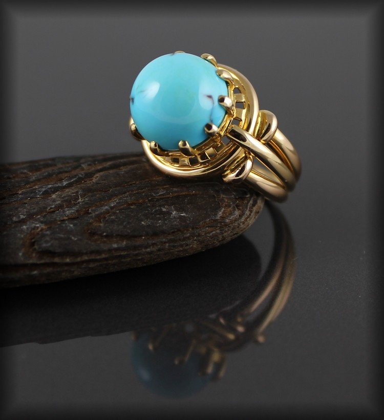 Bague Or Turquoise
