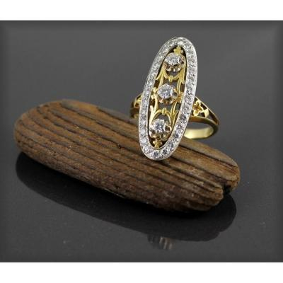 Bague Marquise Or Et Diamants