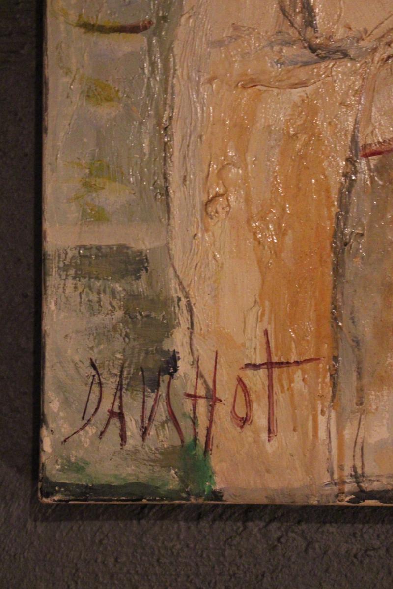 """70's """"dauchot"""" Painting-photo-3"""