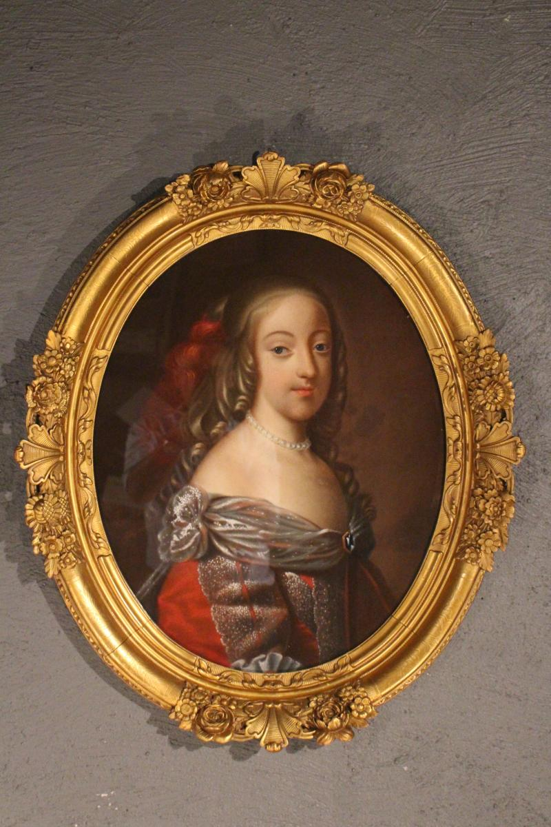 Pastel Portrait Of Woman