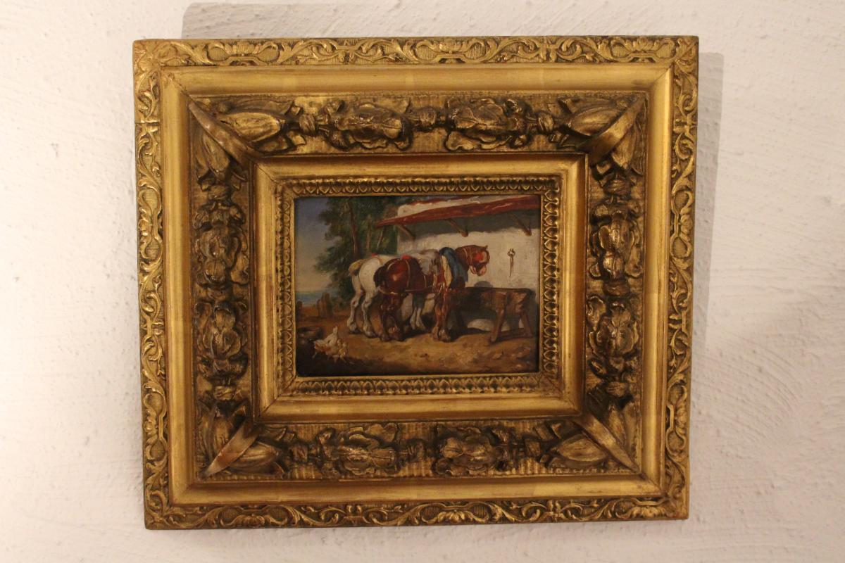 Peinture De Basse-cour 19 éme Siècle.