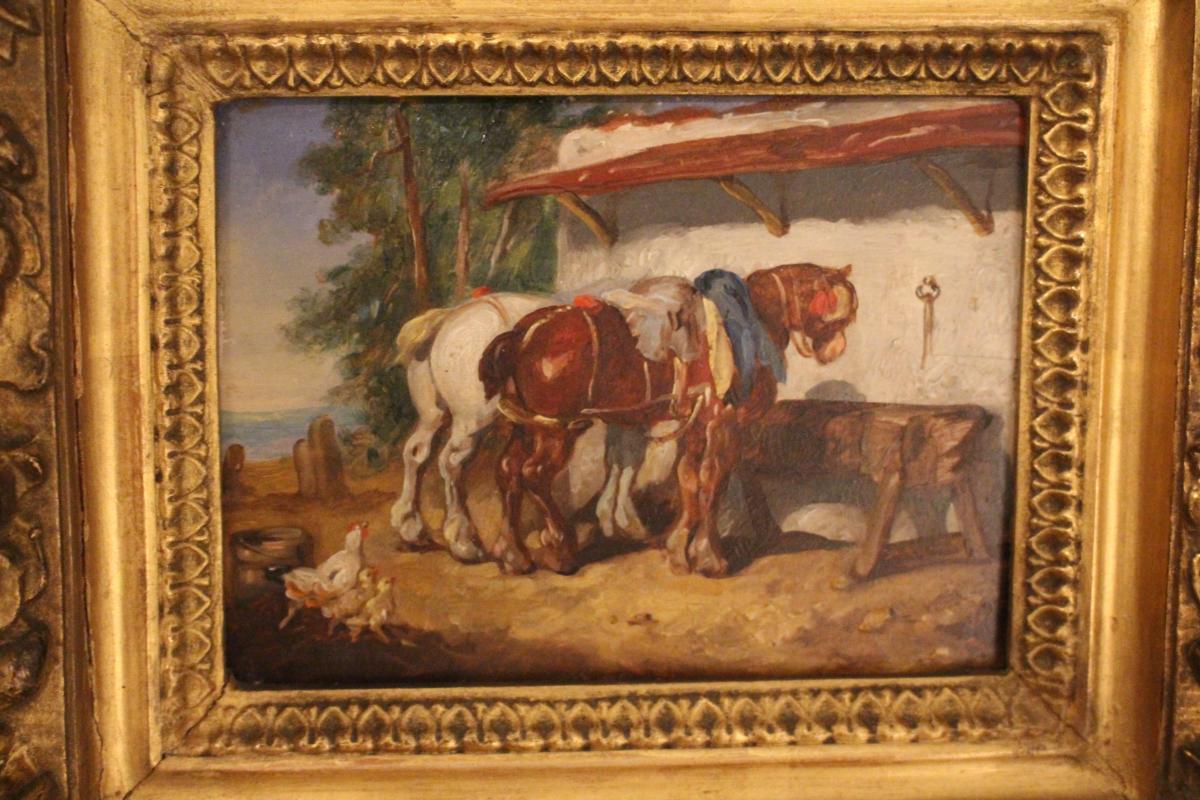 Peinture De Basse-cour 19 éme Siècle.-photo-2