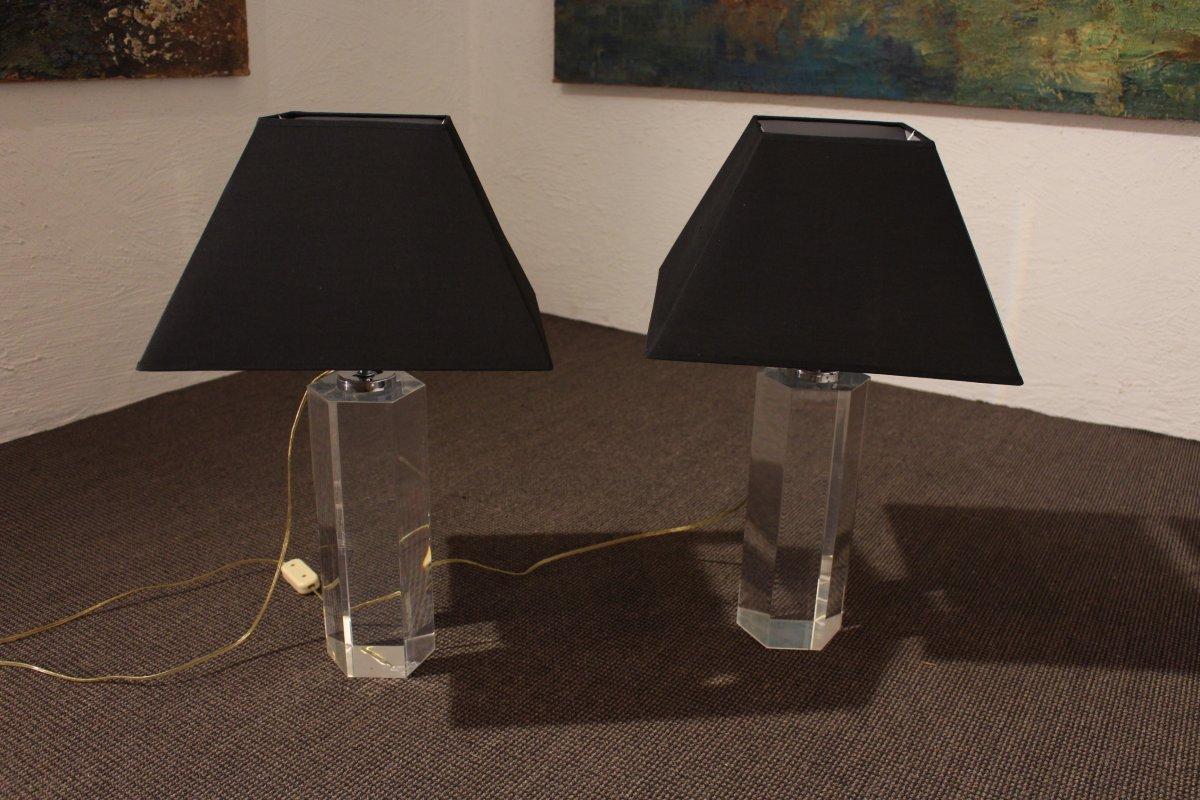Paire De Lampes En Plexi