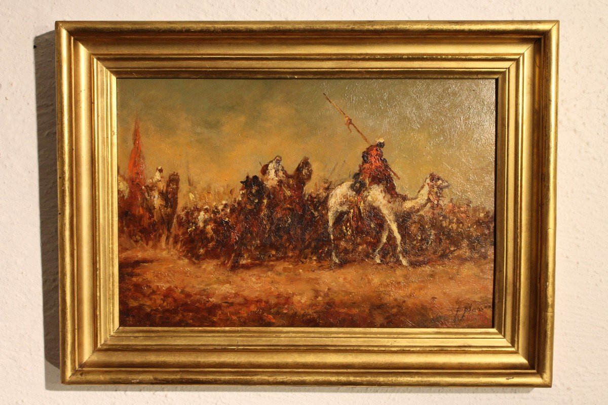 Orientalist Painting By F-alarcon