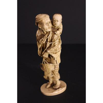Chinese Ivory Statuette