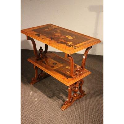 Table Art Nouveau Signée Gallé