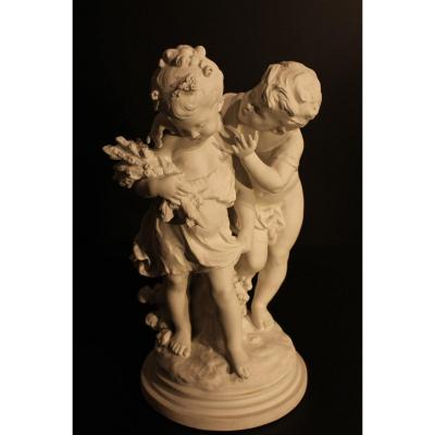 Biscuit Sculpture 19 Eme Century.