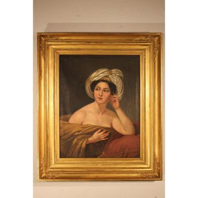 """Painting """"the Woman In The Turban"""""""