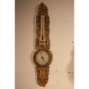 Baromètre –thermomètre 18 Eme Siècle.