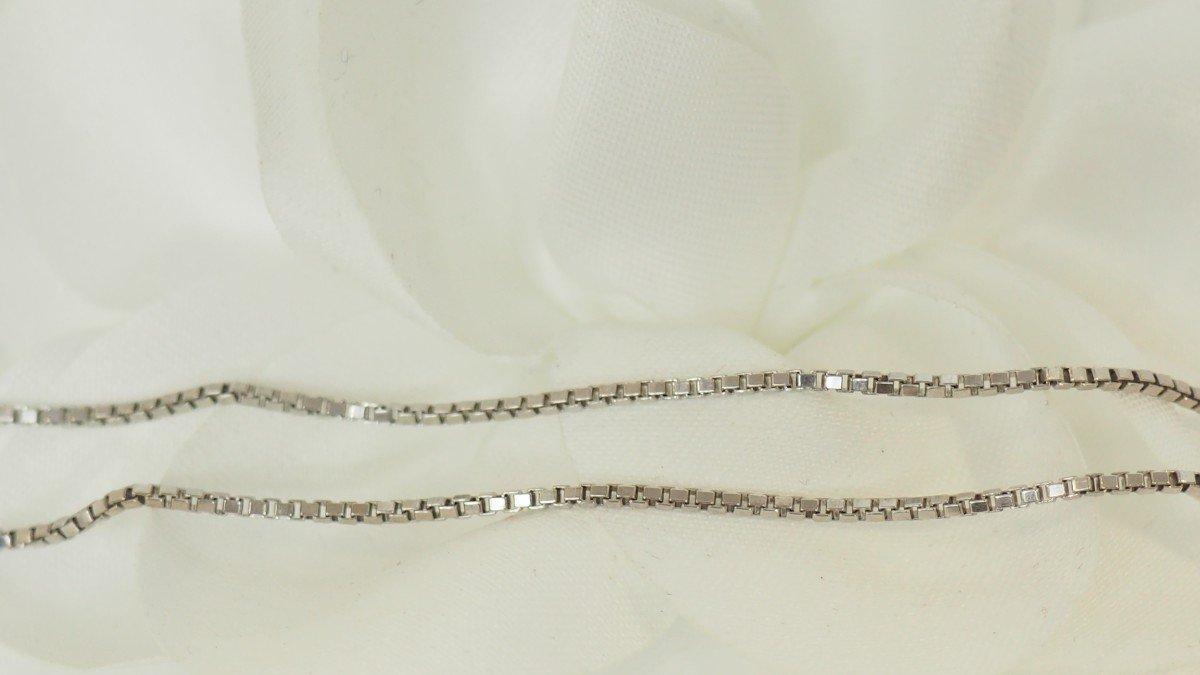 Collier Cœur En Or Blanc Et Diamants-photo-1
