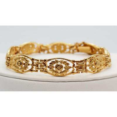 Bracelet Art Déco  En Or Jaune Massif