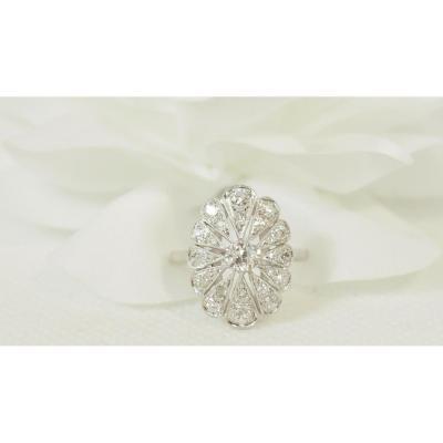 Bague Ancienne En Platine Et Diamants