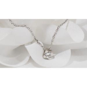 Collier Solitaire En Or Blanc Et Diamant