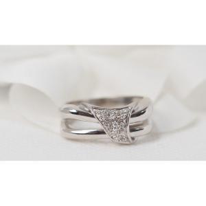 Bague Nœud En Or Blanc Et Diamants
