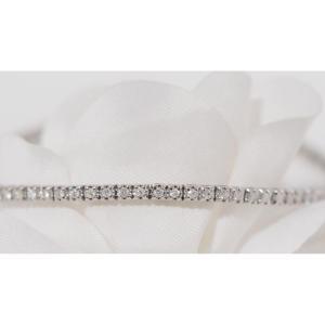 Bracelet Rivière En Or Blanc Et Diamants