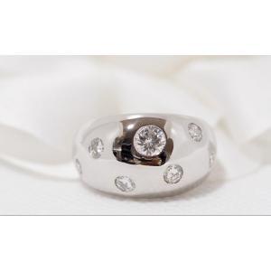Bague Jonc En Or Blanc Et Diamants