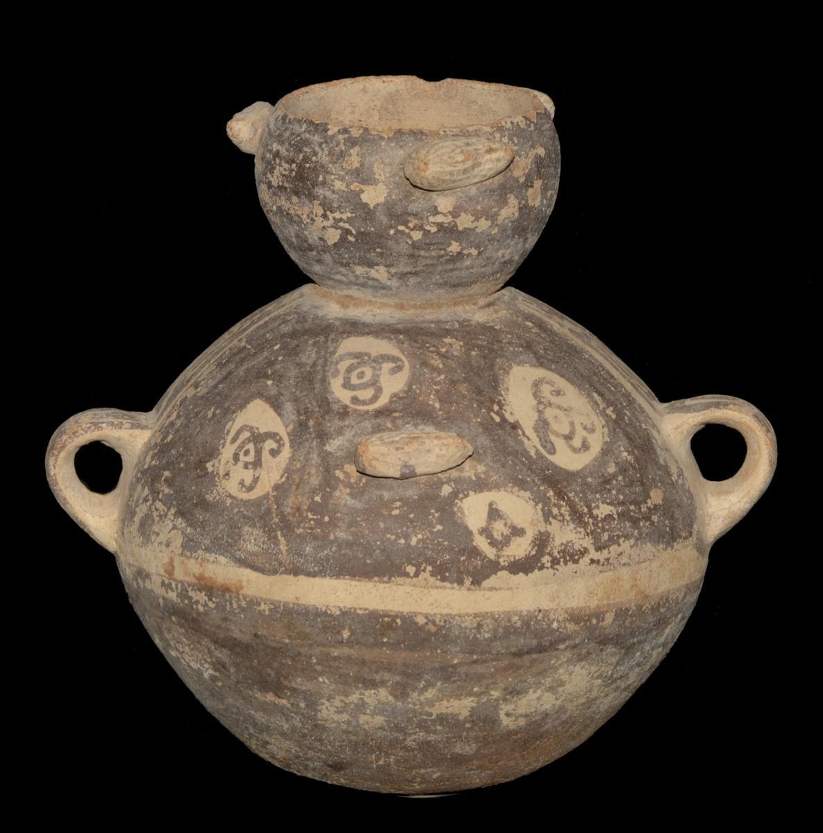 """Vase globulaire """"aux cacahuètes""""  -  Archéologie"""