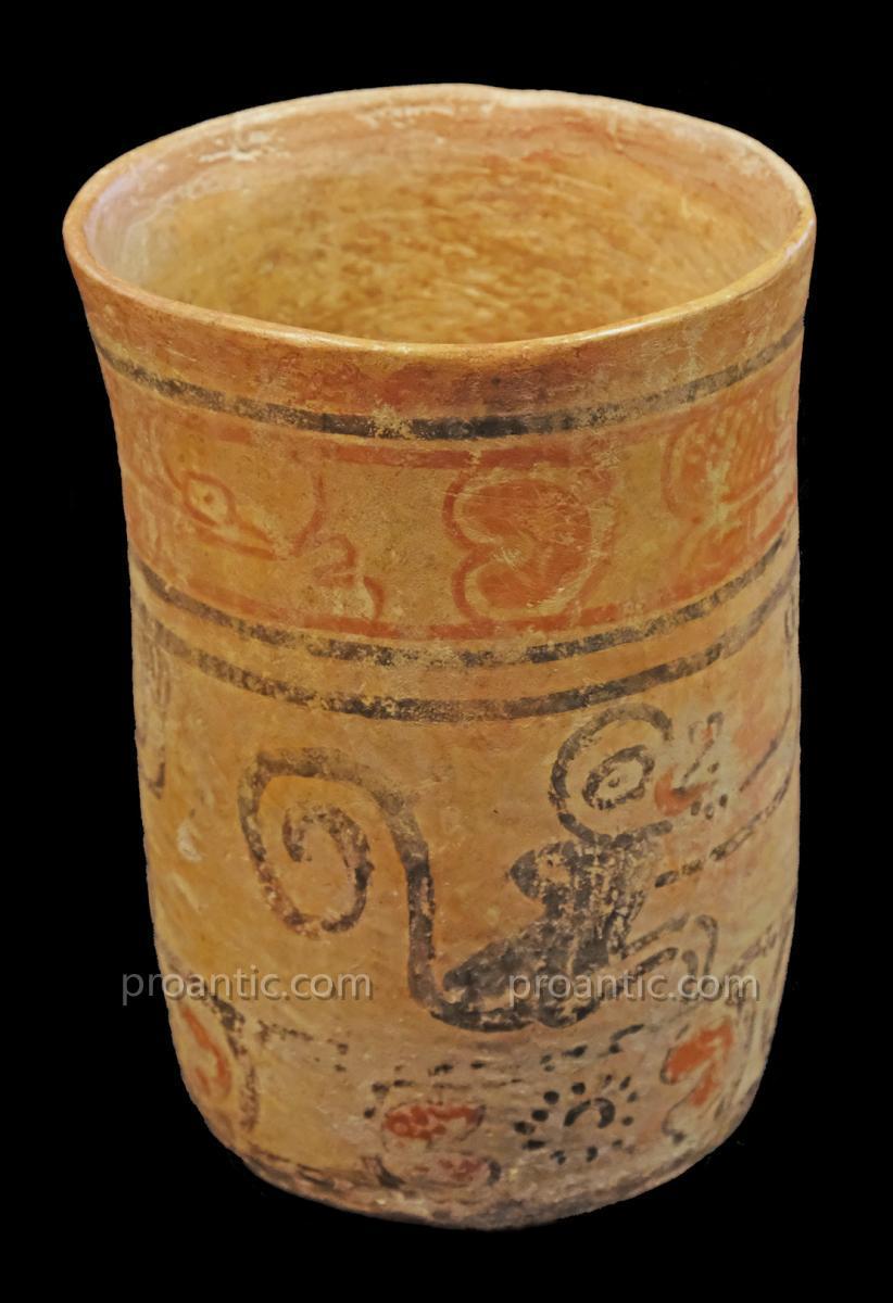 Vase codex à décor de singes, maya, Guatemala - Archéologie