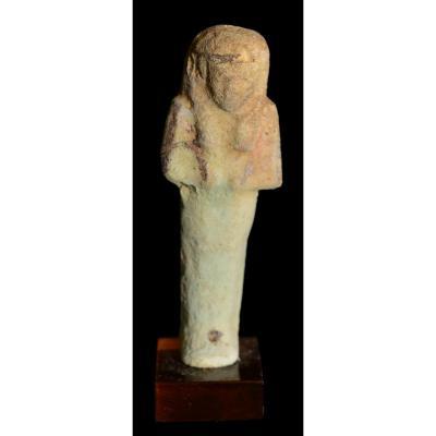 Oushebti en fritte - Egypte, Basse Epoque - Archéologie