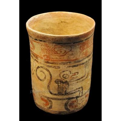 Codex Vase With Monkey Decoration, Maya, Guatemala - Archeology