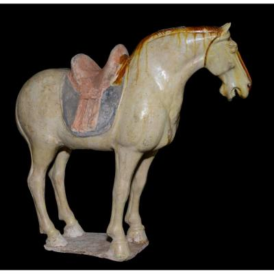 Sancai Horse With Cream Dominant - Archeology