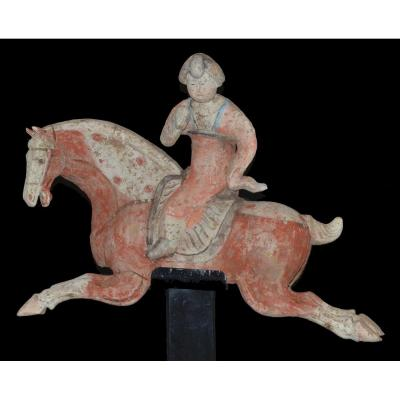 Polo Player With Red Dress, China, Tang - Archeology