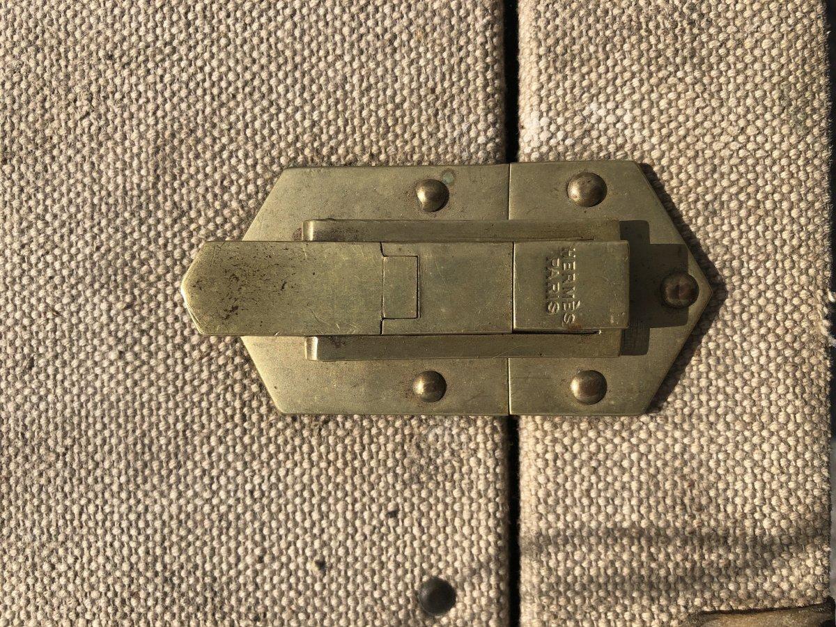 Valise Hermès Années 1930 Initiales Jkb-photo-1