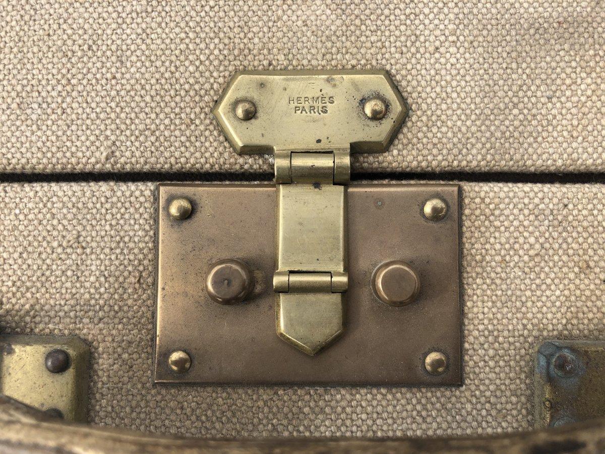 Valise Hermès Années 1930 Initiales Jkb-photo-2