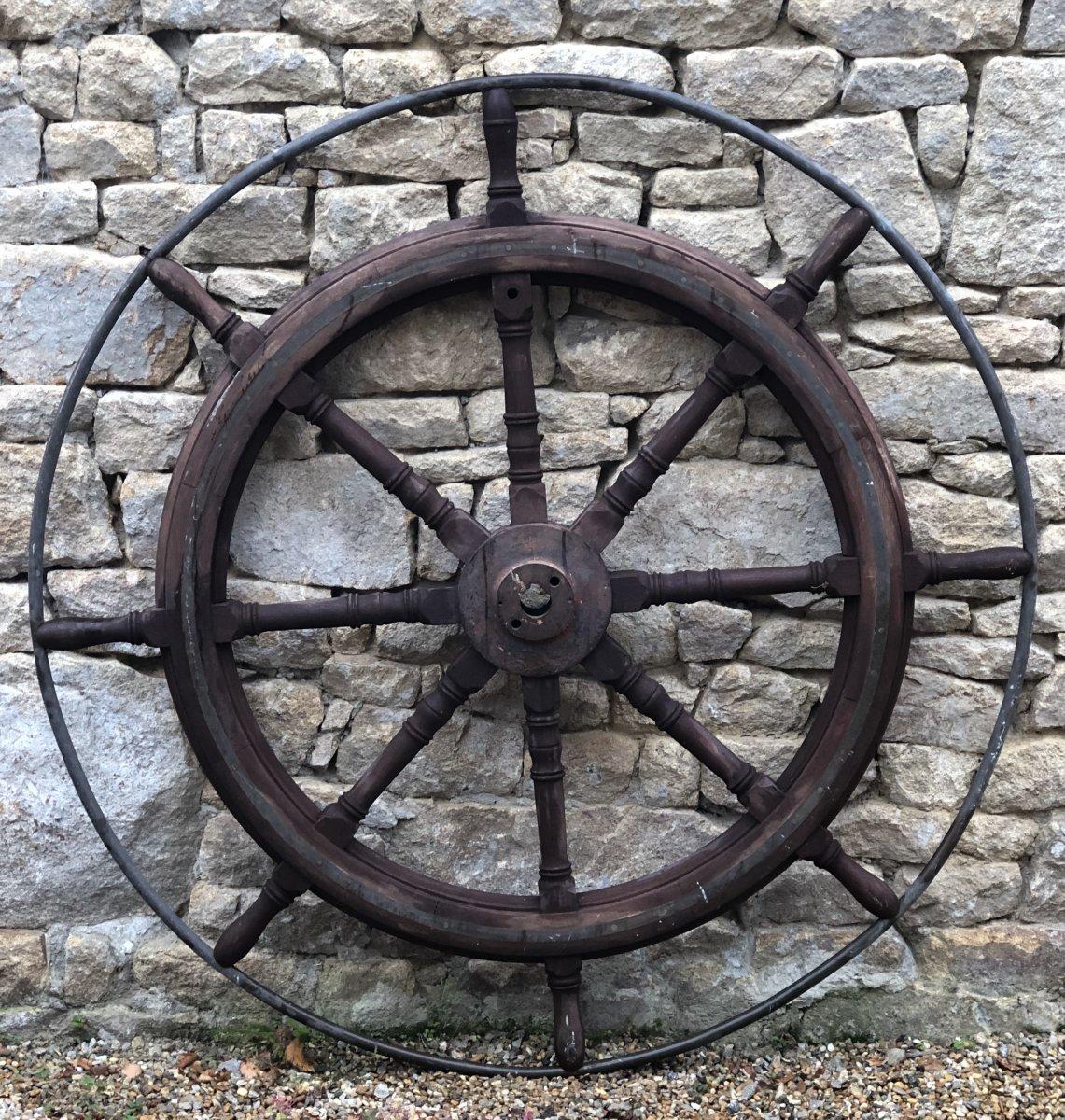 Mahogany Wheel Bar