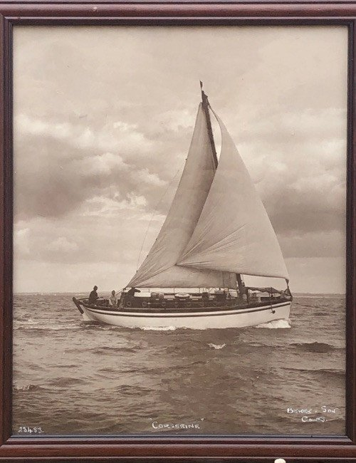 """Photograph By Beken Son Of Cowes From The """"corserine"""" Sailboat"""