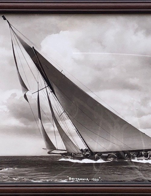 """Photograph Of The Sailboat """"britannia 1924"""" By Beken Of Cowes"""