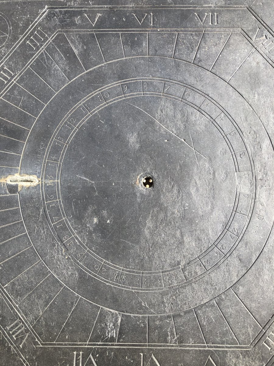 Solar Dial In Slate Dating From The XVIIIth Century Brittany-photo-4