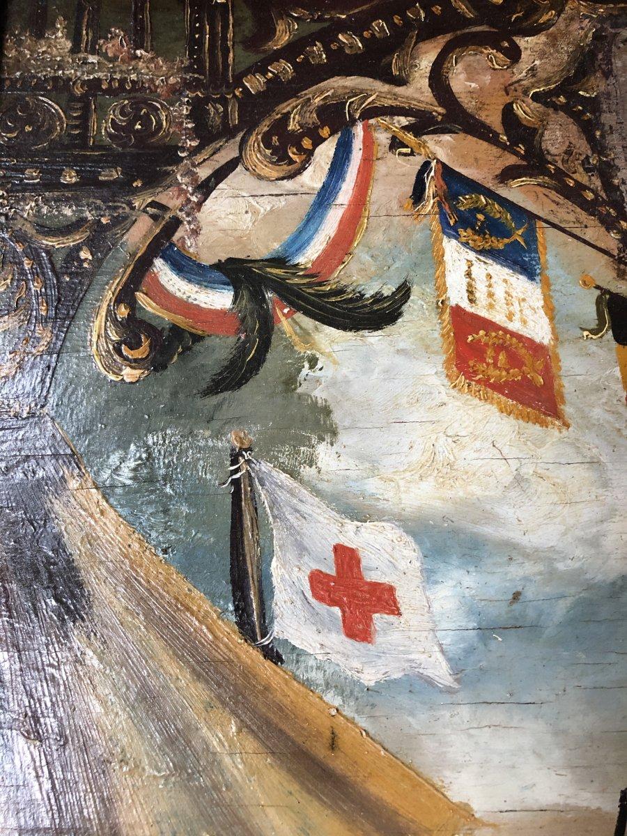 Souvenir De Vouziers Painting On Wood-photo-4