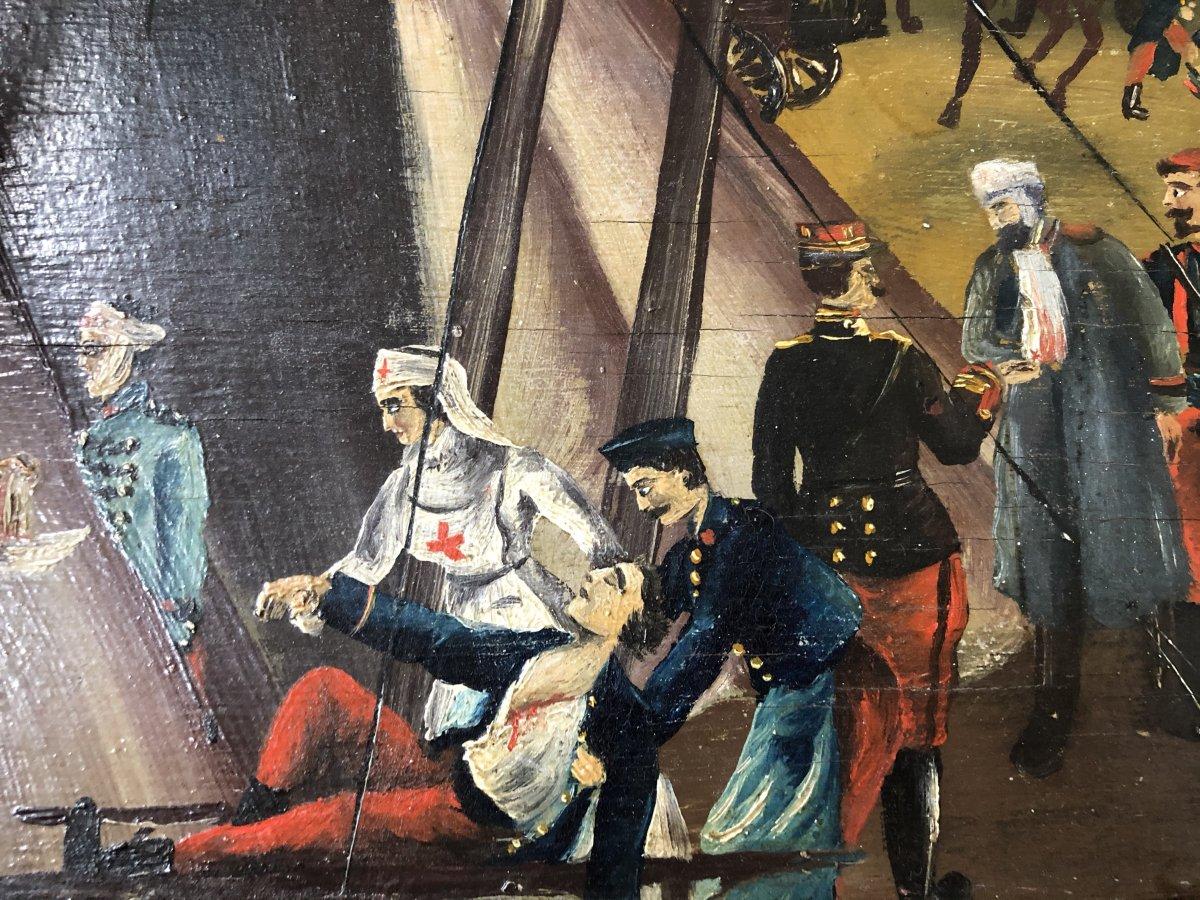 Souvenir De Vouziers Painting On Wood-photo-1