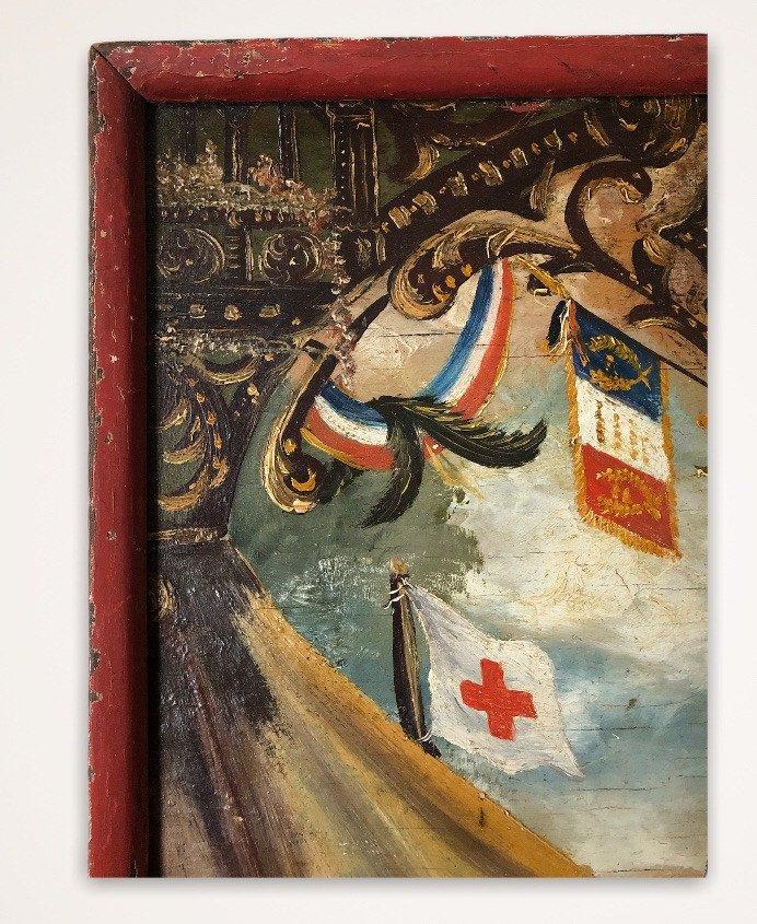 Souvenir De Vouziers Painting On Wood-photo-5